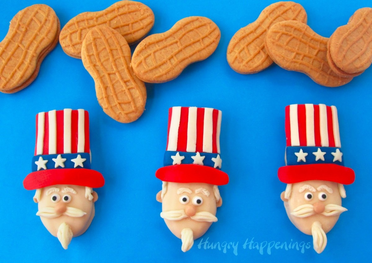 Uncle Sam Nutter Butter Cookies For The 4th Of July
