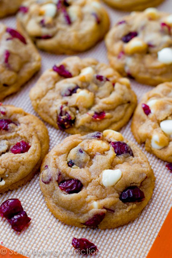 Cranberry And White Chocolate Cookies Recipe — Dishmaps