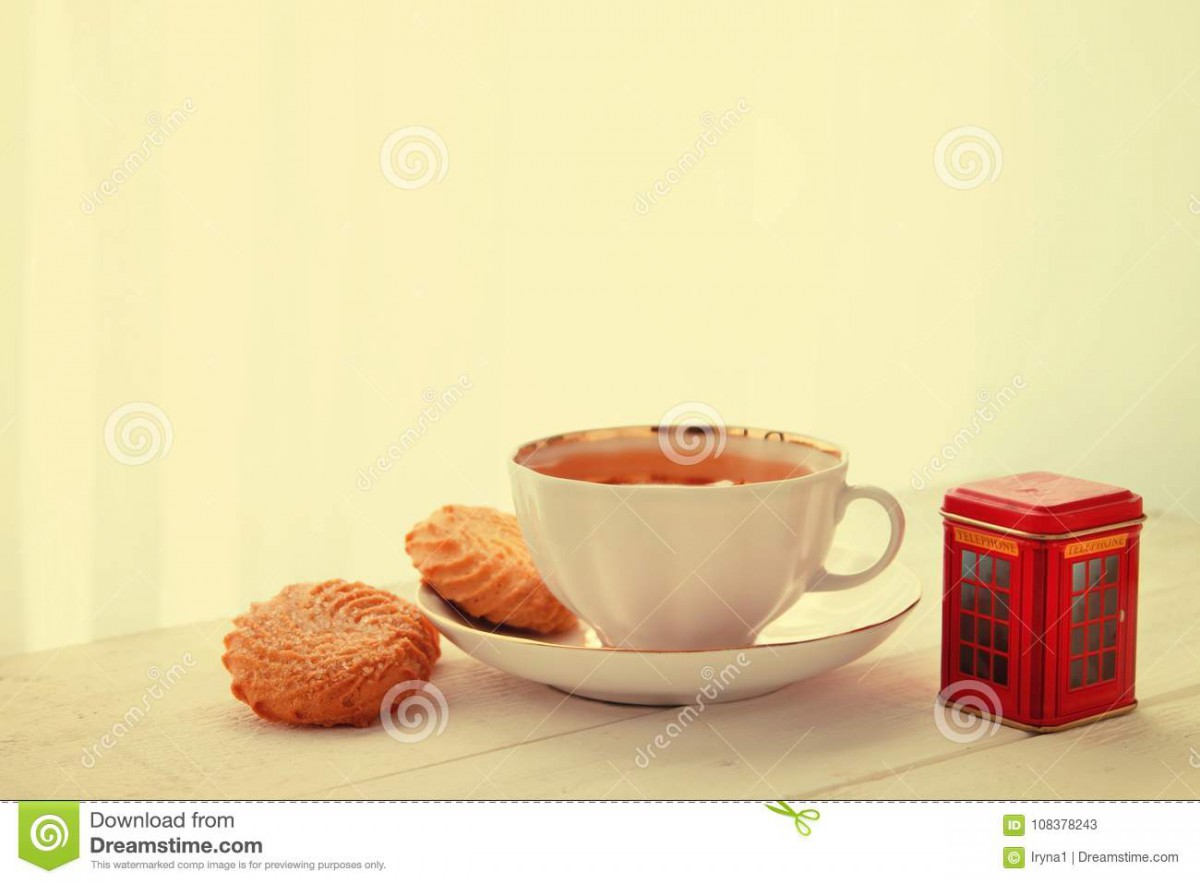 English Tea And Cookies Stock Image  Image Of Vintage