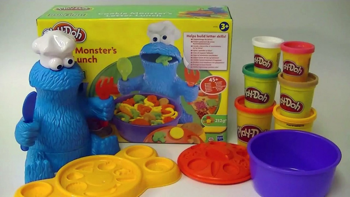 Play Doh Cookie Monster Letter Lunch Playdough Sesame Street Play