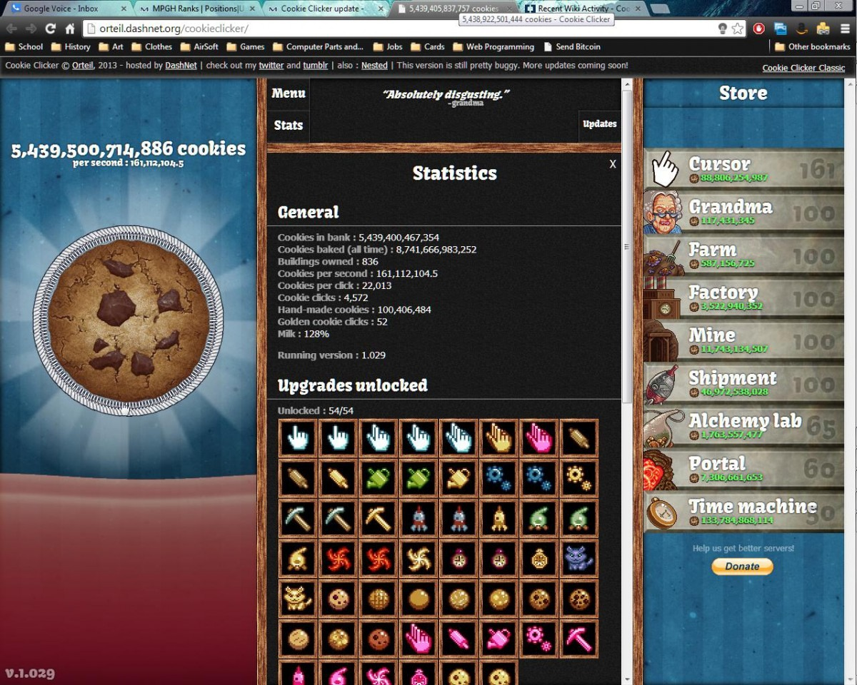 Cookie Clicker Update