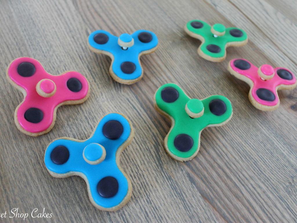 Fidget Spinner Cookies