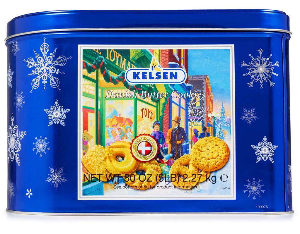 Kelsen Danish Butter Cookies 80 Oz