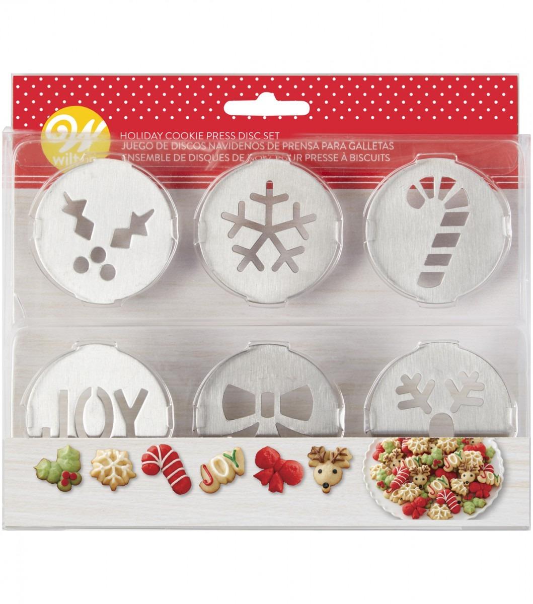 Wilton Holiday Cookie Press Disc Set