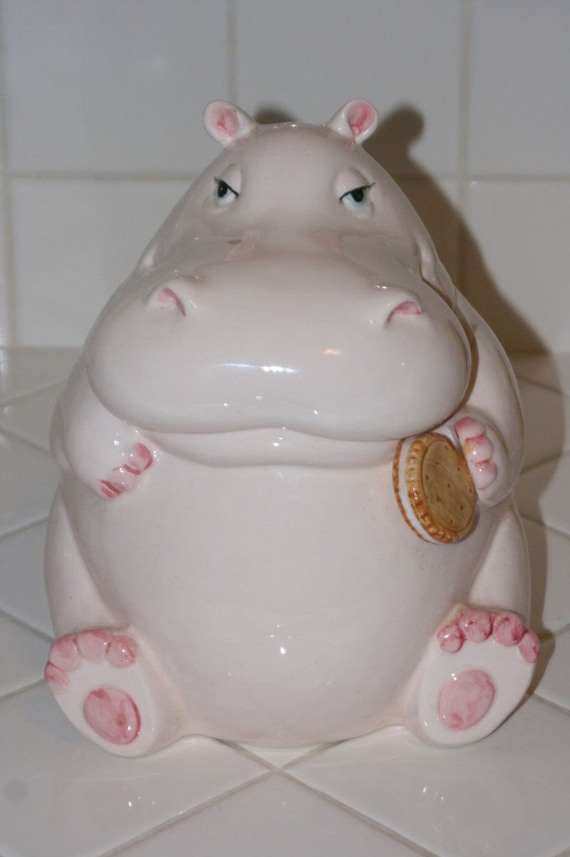 Fitz And Floyd Hippo Cookie Jar On Popscreen