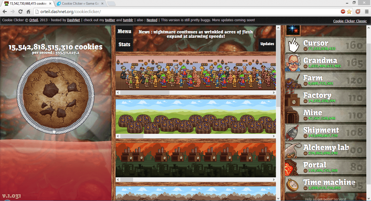 Cookie Clicker  Legacy Update Â« Beyond Earthbound Â« Forum