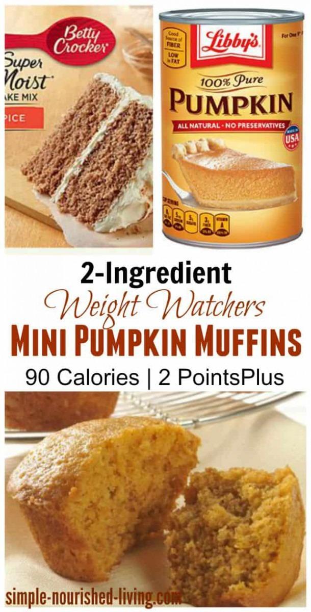 Weight Watchers Pumpkin Spice Cake Mix Muffins Recipe