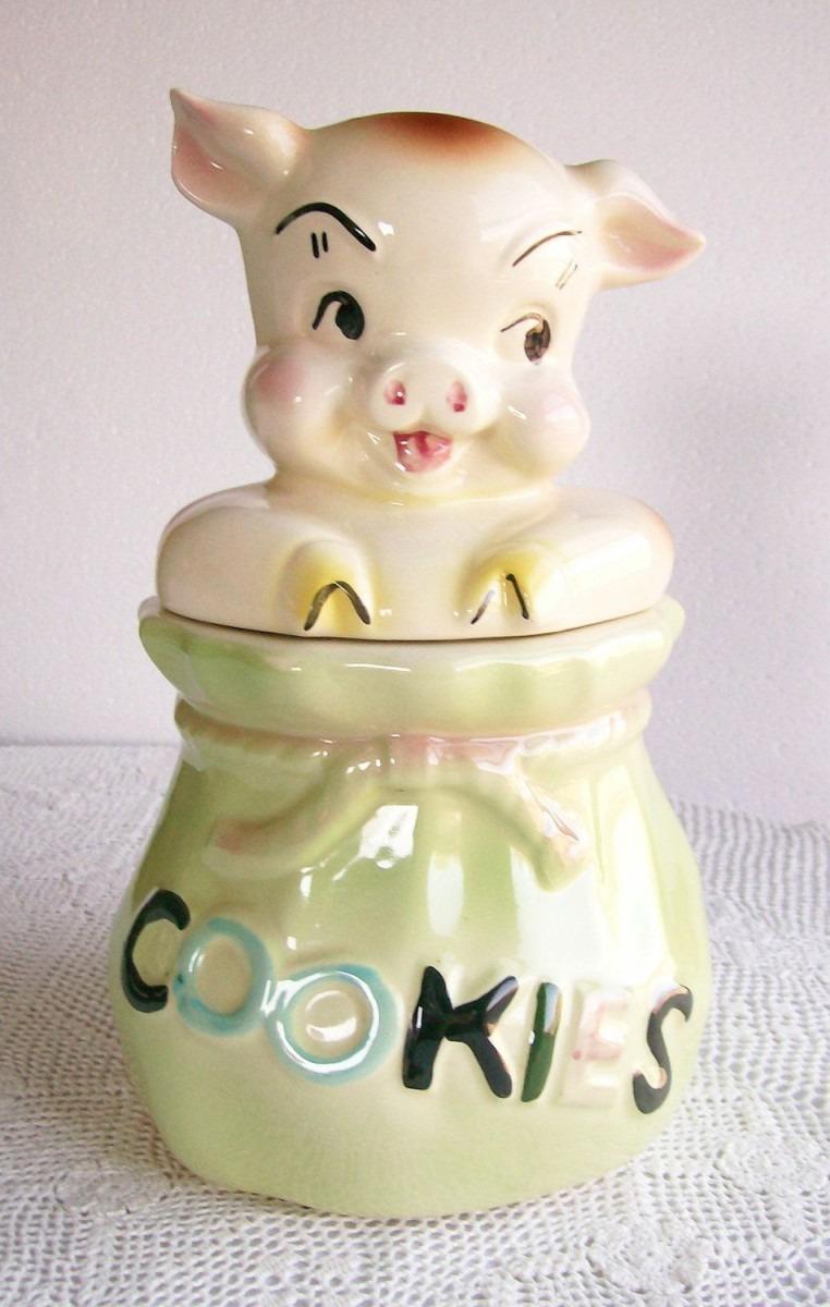 Vintage Cookie Jar Pig In A Poke American Bisque 1958