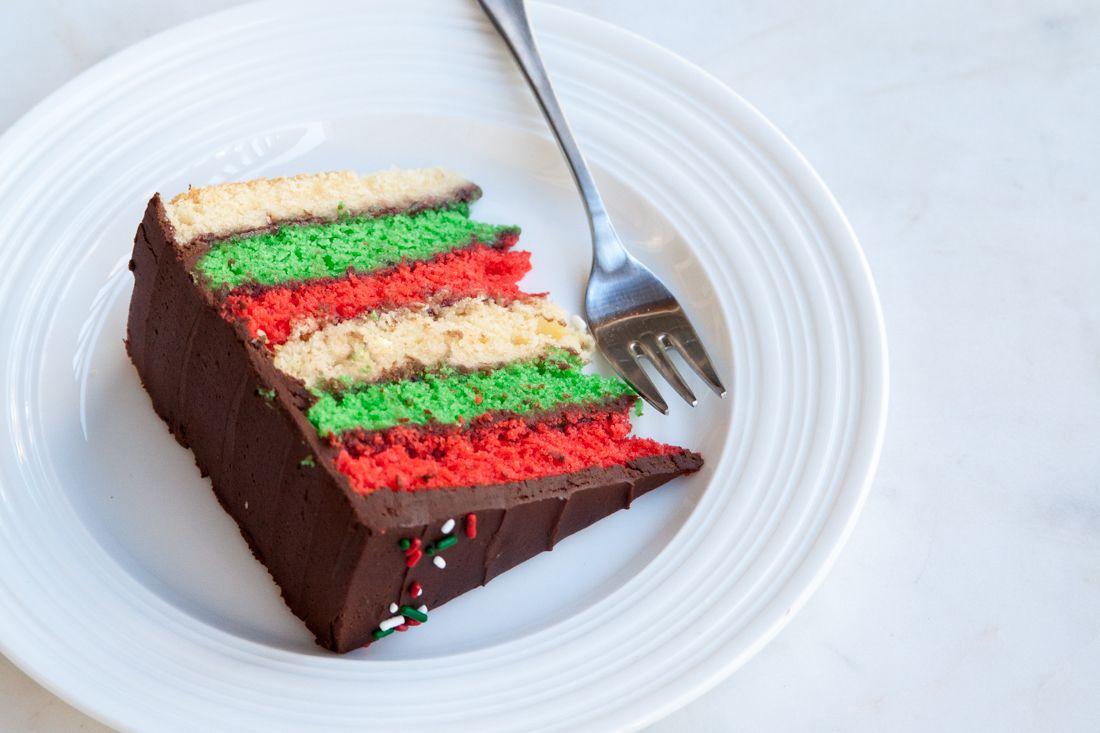 How To Make An Italian Rainbow Cookie Cake For The Holidays Via
