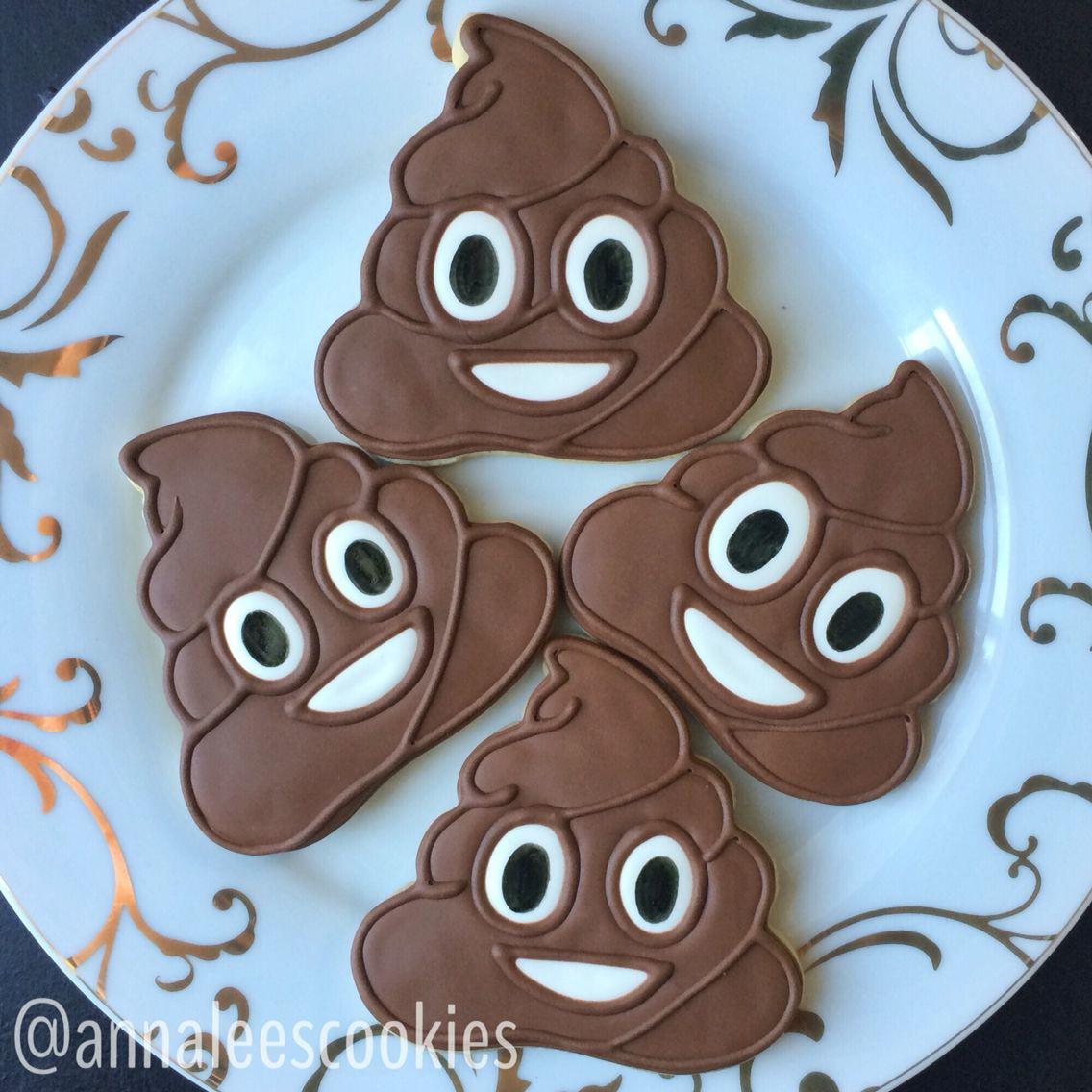 Poop Emoji Cookies! By Anna Lee's Cookies (instagram