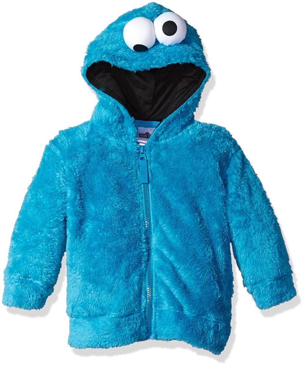 Sesame Street Cookie Monster Little Boys Costume Hoodie, Blue