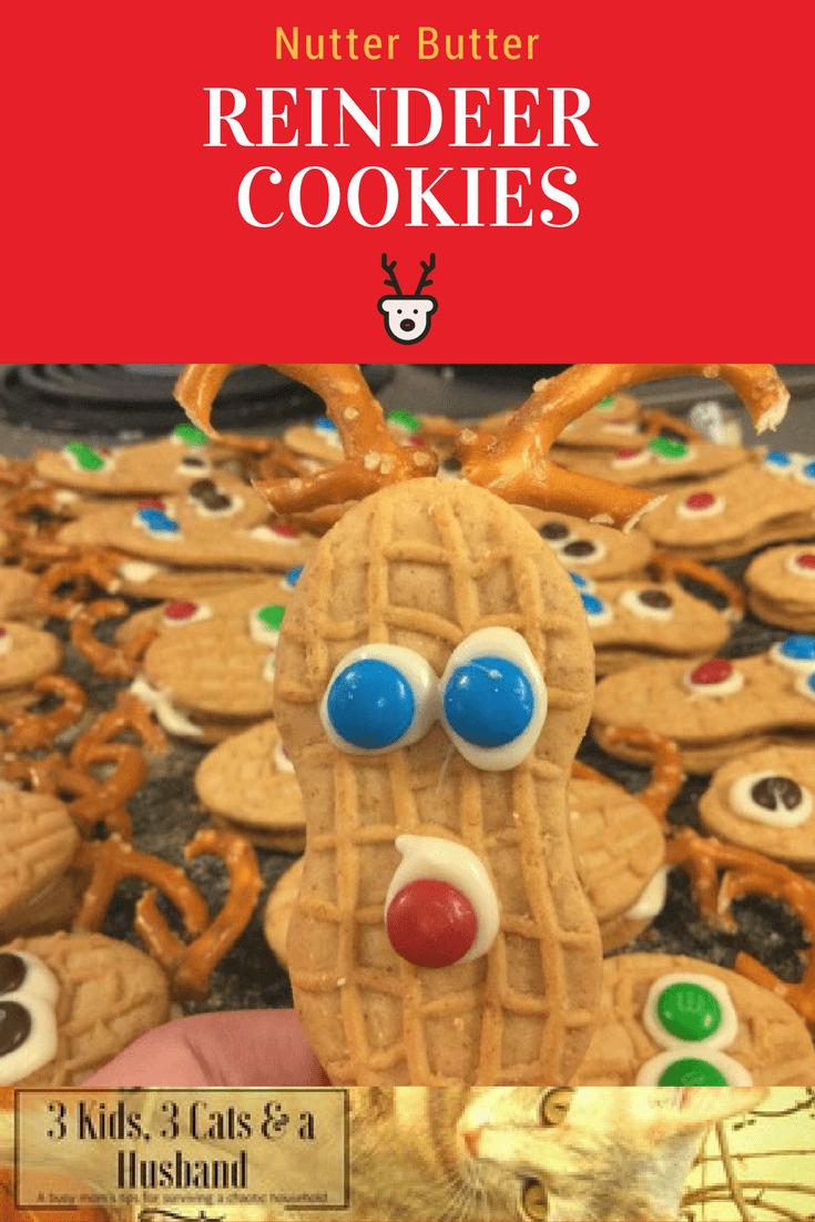 Nutter Butter Reindeer Christmas Cookies