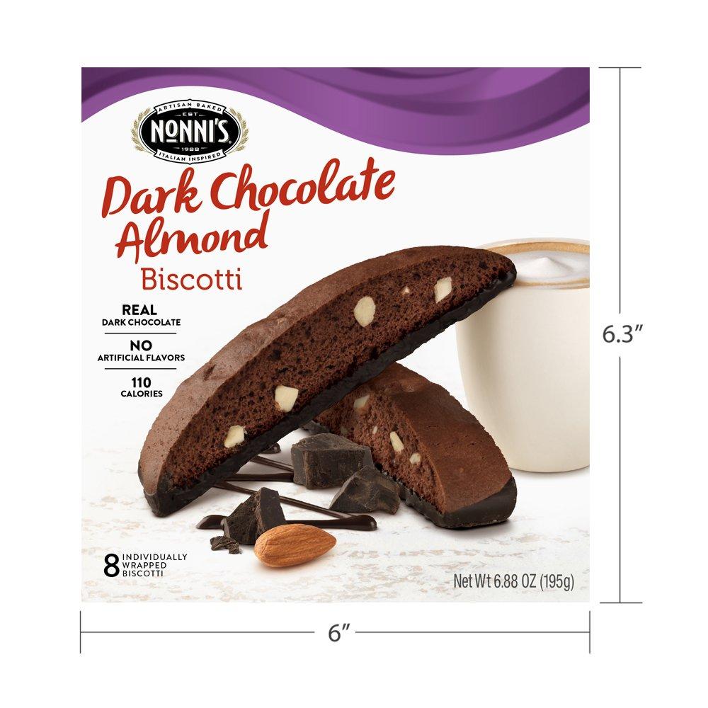 Amazon Com  Nonni's Biscotti, Dark Chocolate, 8 Count, 6 88 Ounce