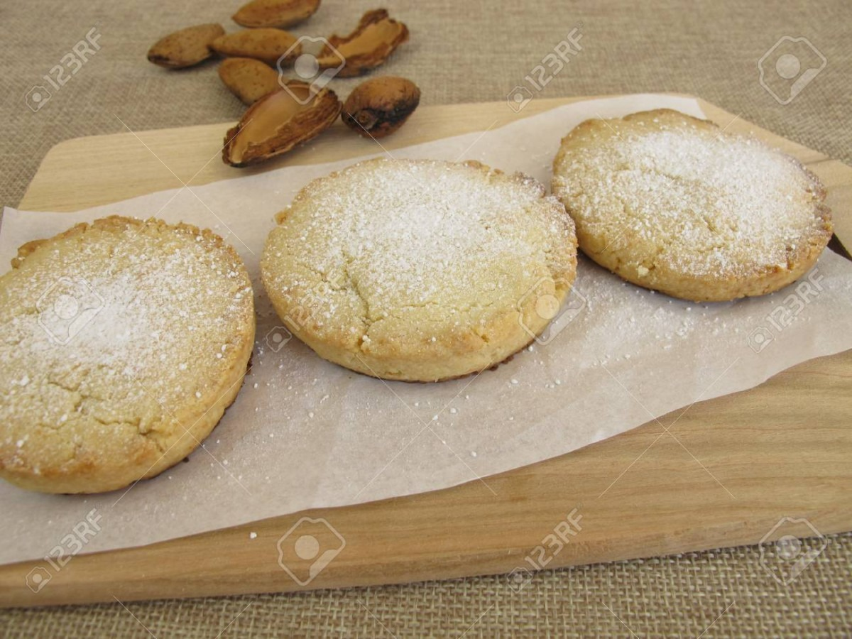 Homemade Shortbread Cookies Polvoron Stock Photo, Picture And