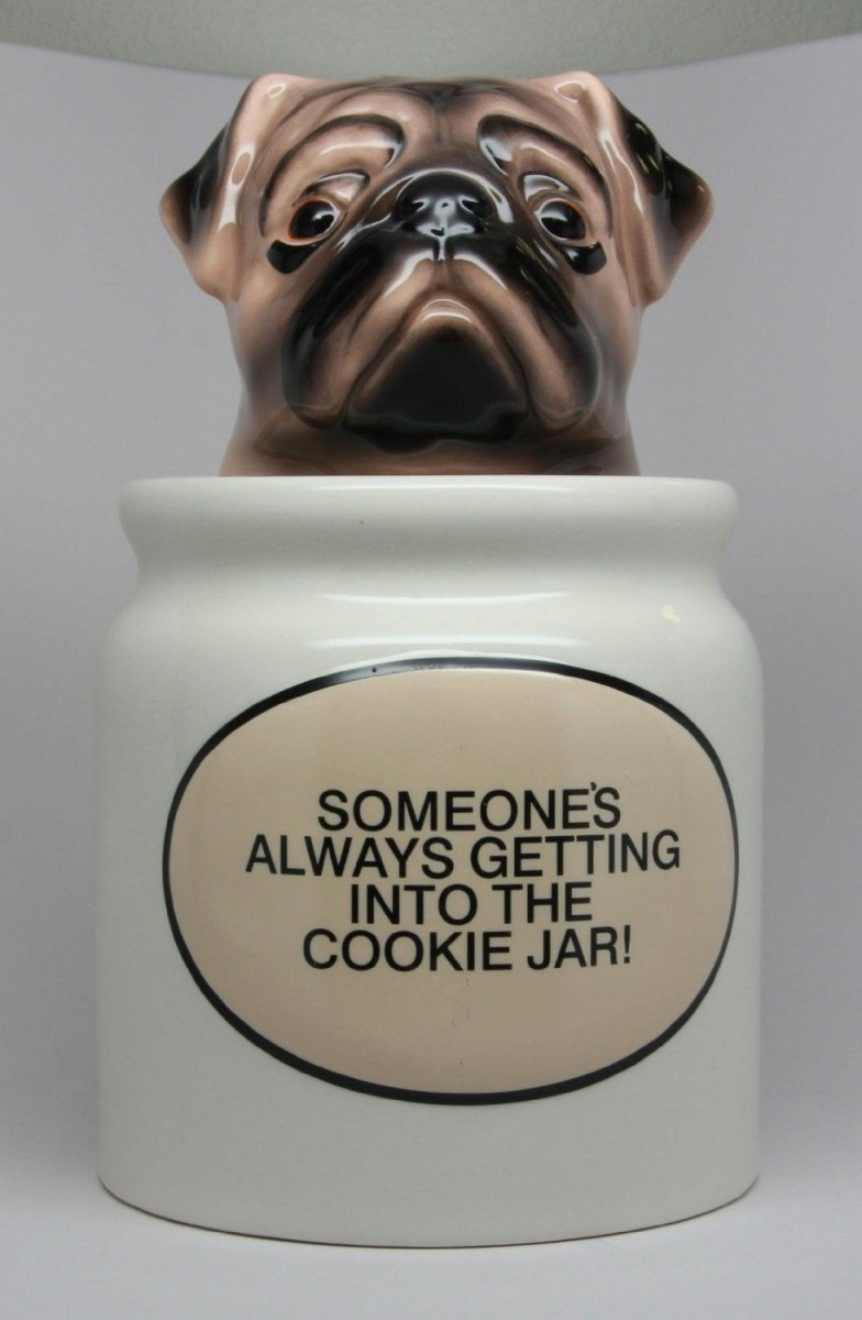 Pug Cookie Jar Image