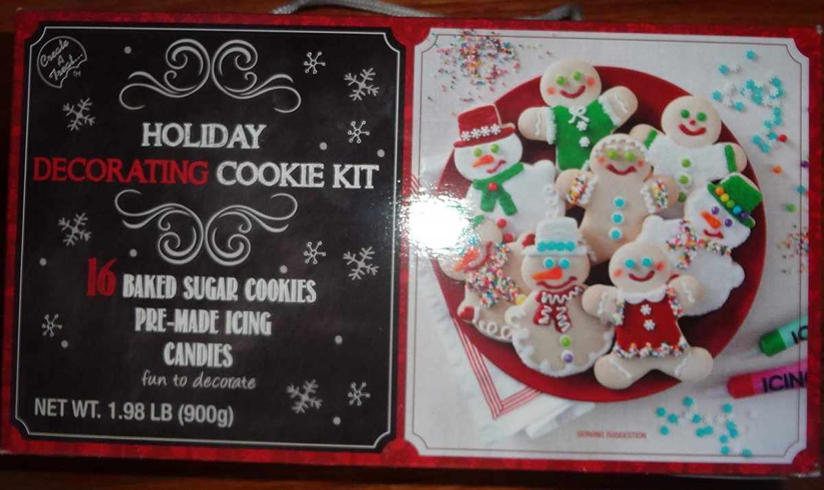 Amazon Com   Holiday Decorating Cookie Kit 16 Baked Sugar Cookies