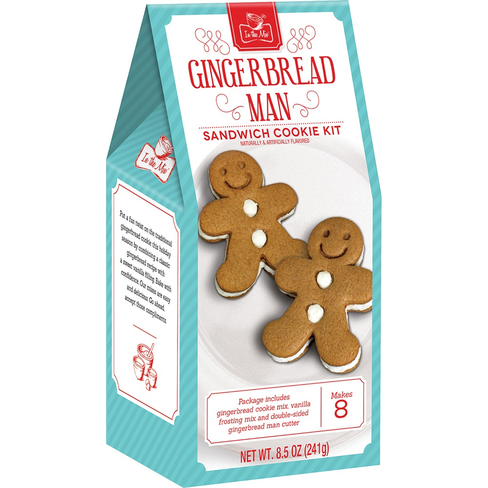 Gingerbread Man Sandwich Cookie Kit