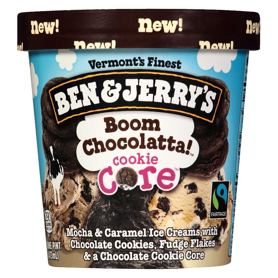 Ben & Jerry's Ice Cream Boom Chocolatta! Cookie Core