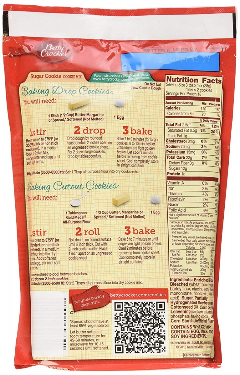 Amazon Com   Betty Crocker Sugar Cookie Mix 17 5oz (2 Packages