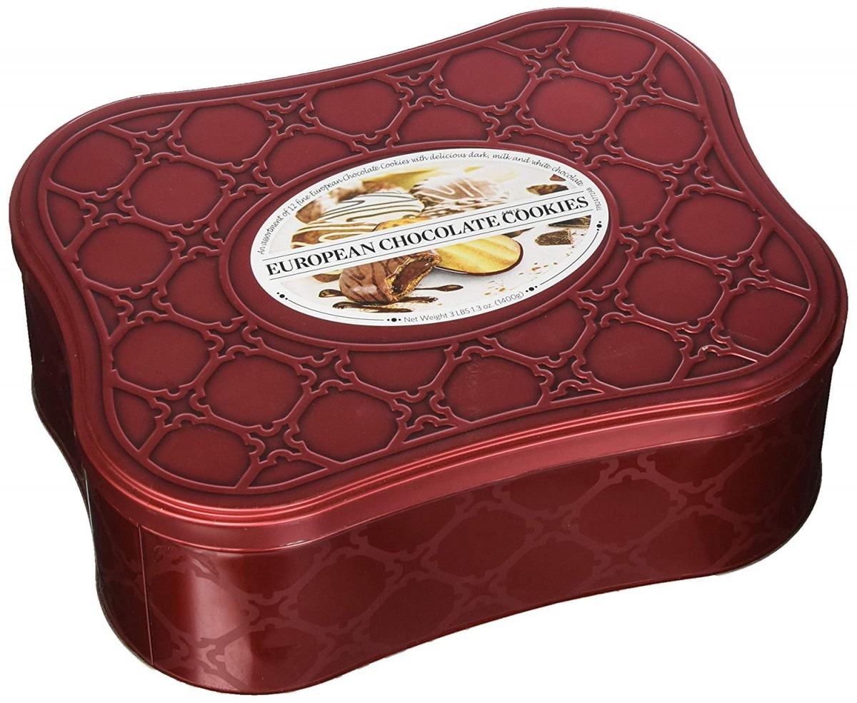 Amazon Com   European Chocolate Cookie Tin Assortment Of 12 Cookie