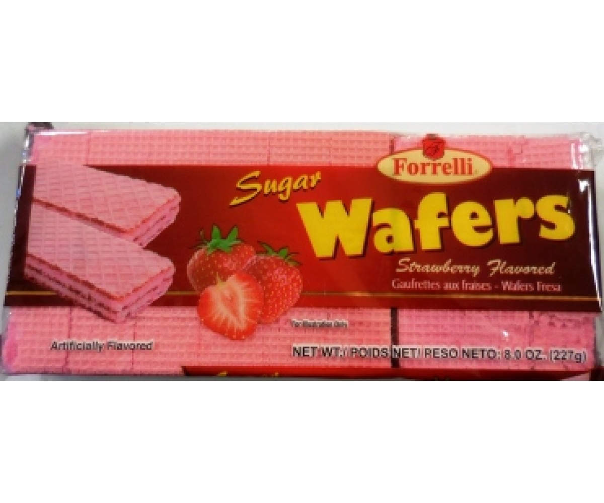 Cookies, Strawberry Wafers 8oz