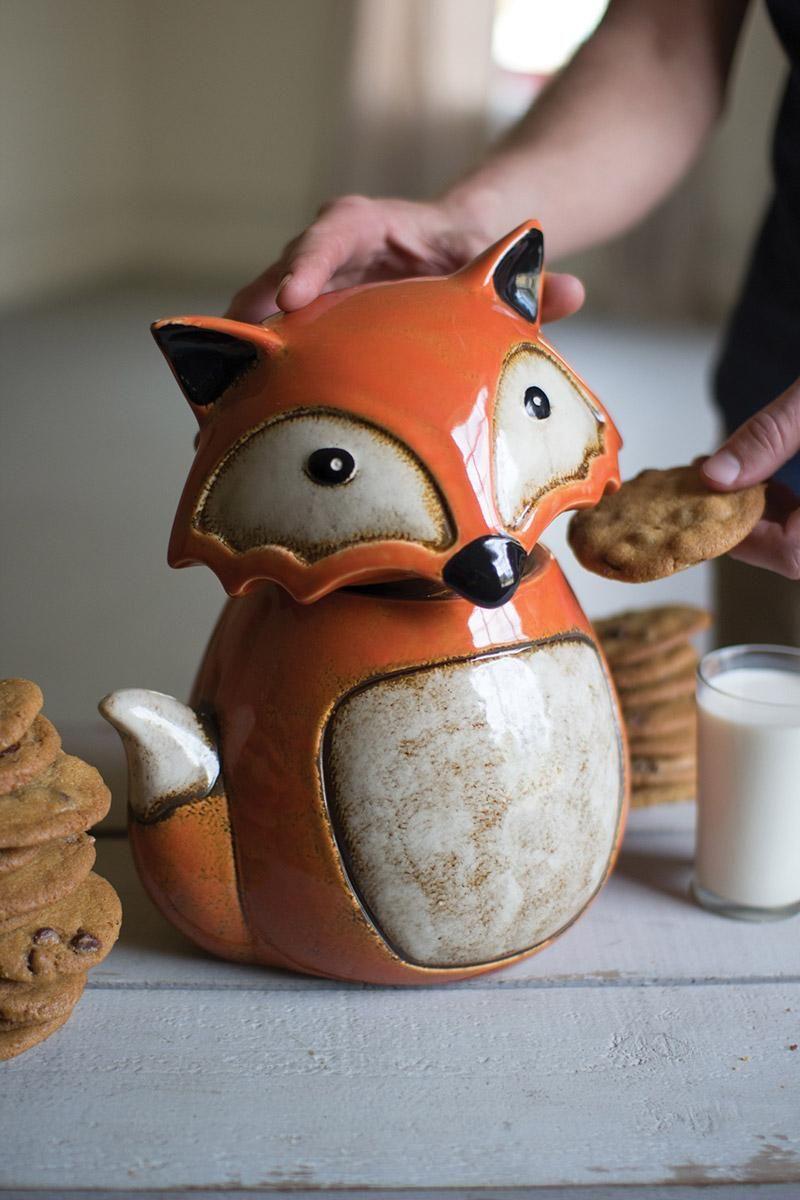 Ceramic Fox Cookie Jar …