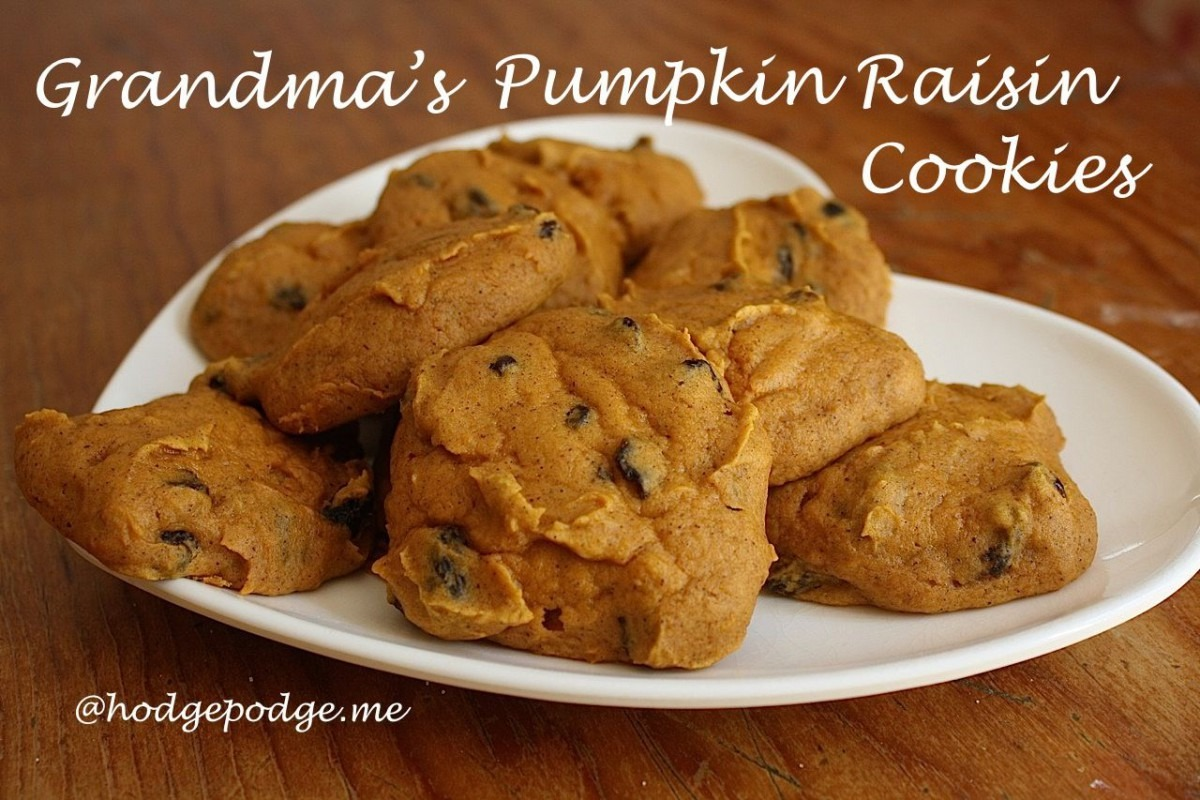 Grandma's Pumpkin Raisin Cookies Recipe