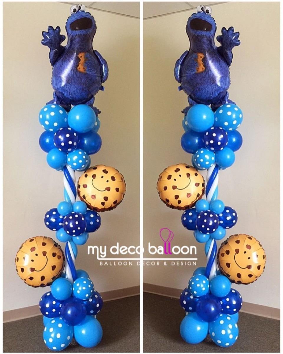 Cookie Monster Balloon Columns  Mydecoballoon  Balloonsnj