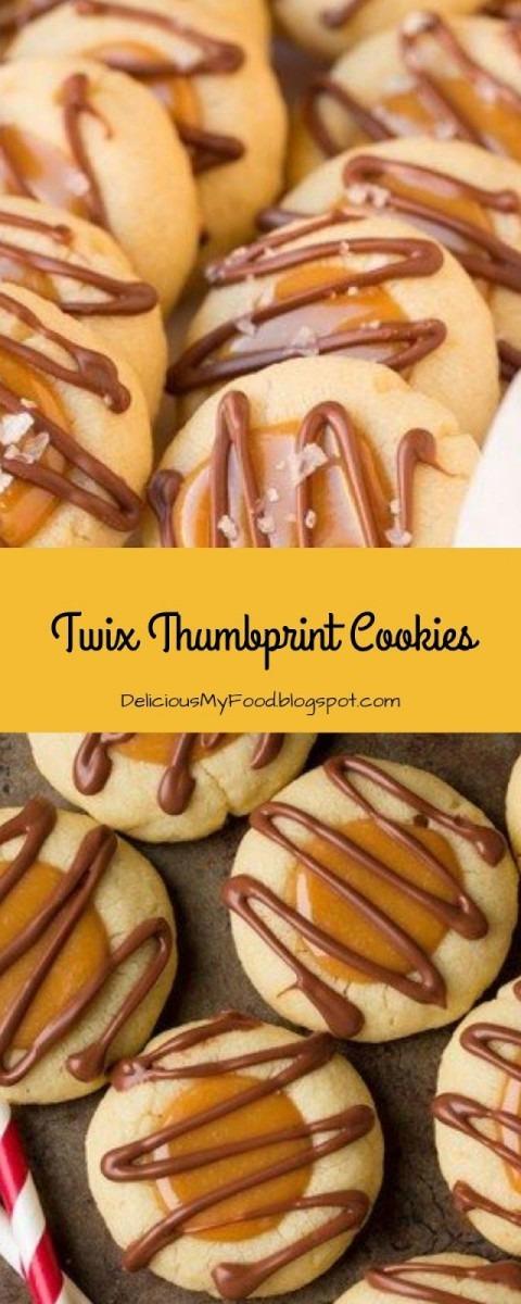 Twix Thumbprint Cookies  Christmas  Cookies