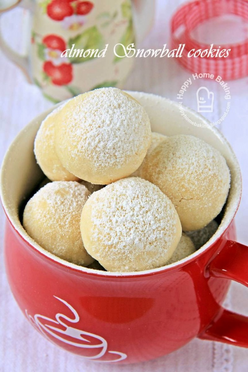 Happy Home Baking  Almond Snowball Cookies
