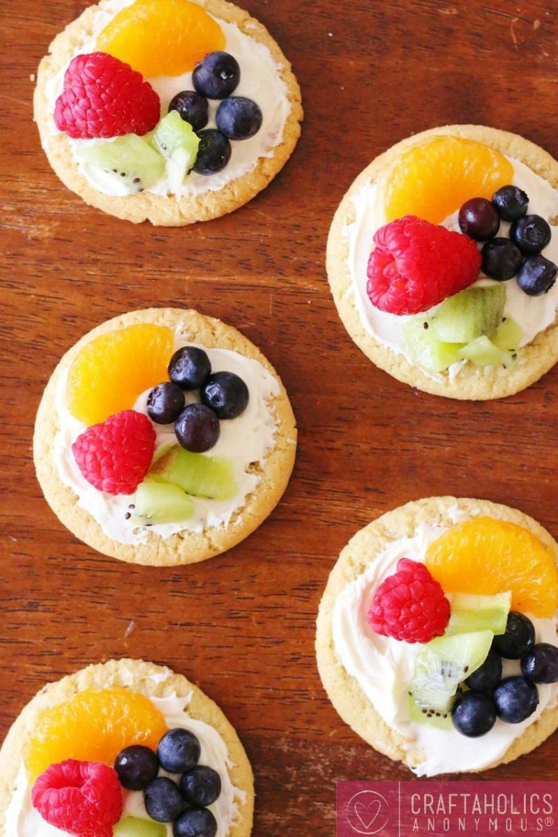 Sugar Cookie Fruit Tarts