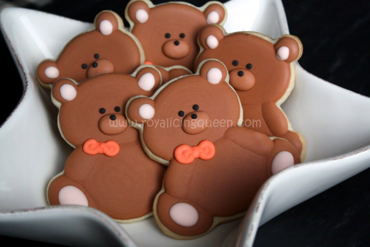 The Royal Icing Queen  Teddy Bear Cookies