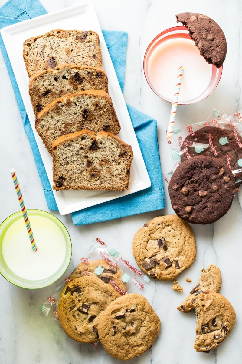 Banana Chocolate Chip Cookie Bread + Otis Spunkmeyer…