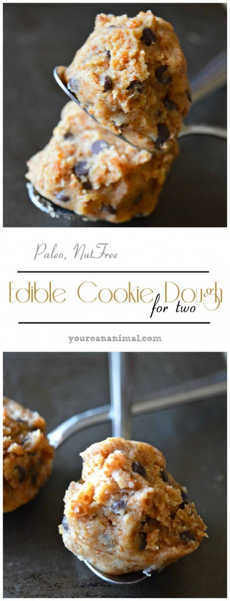 Edible Cookie Dough For Two (gluten