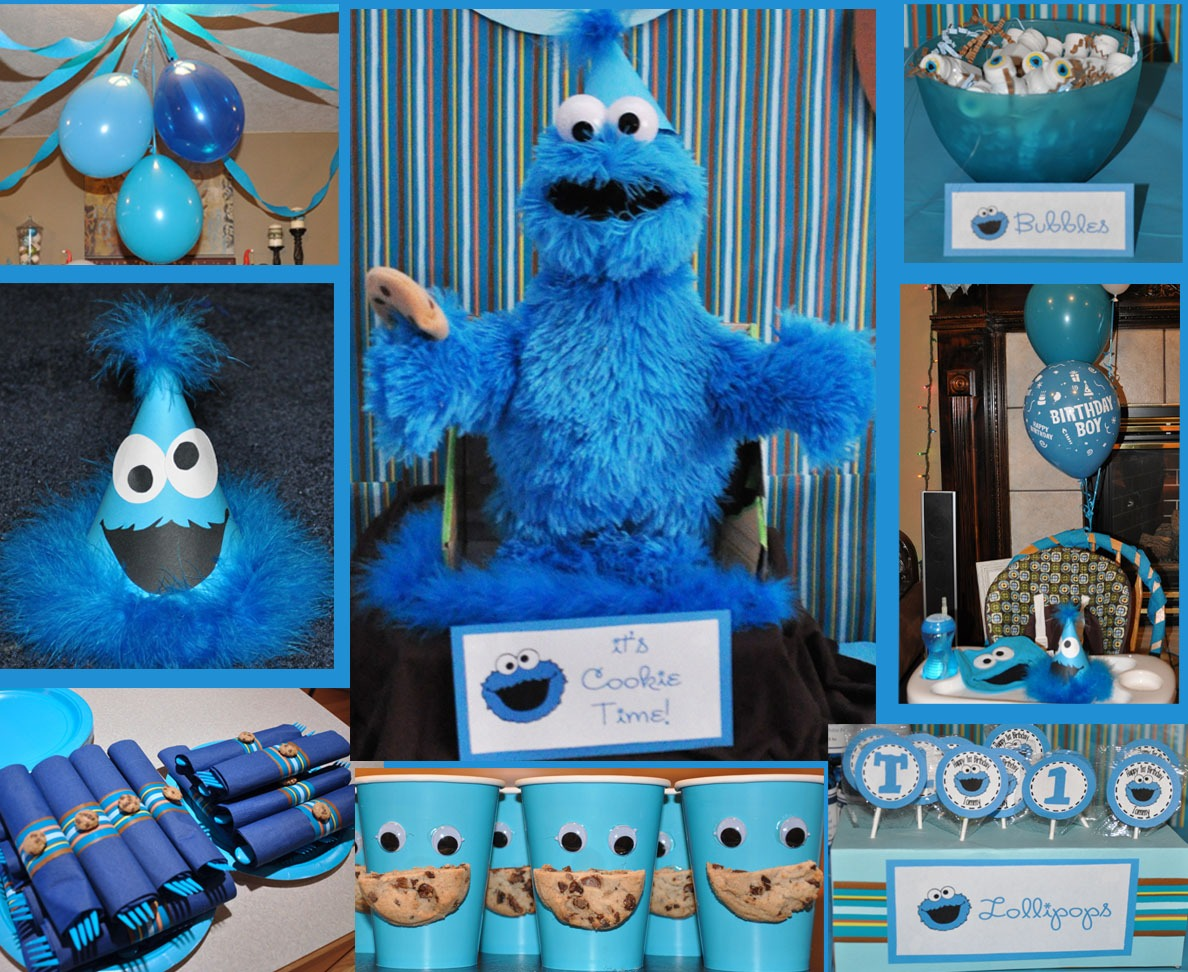 Cookie Monster Theme Party Supplies — Designdiary   Cookie Monster