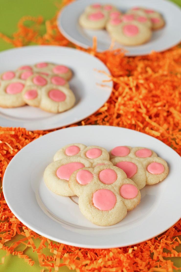 Bunny Paw Thumbprint Cookies