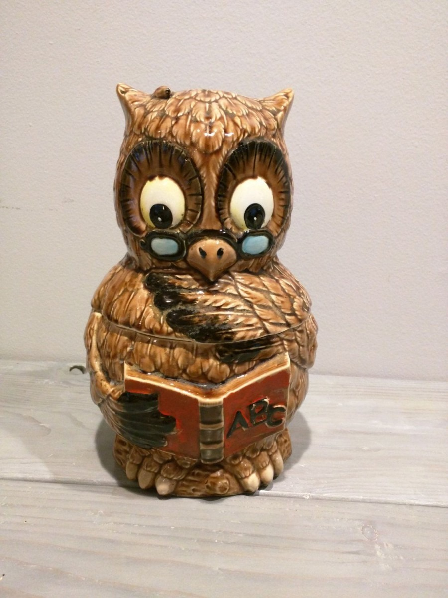 Wise Owl Cookie Jar   Made In Japan Stamped On The Bottom
