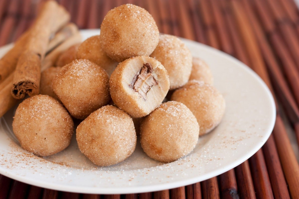 Rolo Stuffed Snickerdoodle Cookie Dough Bites