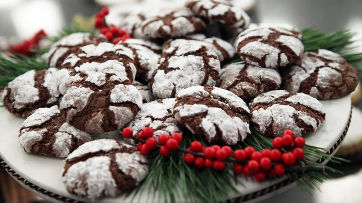 Recipe  Spiced Chocolate Crinkle Cookies