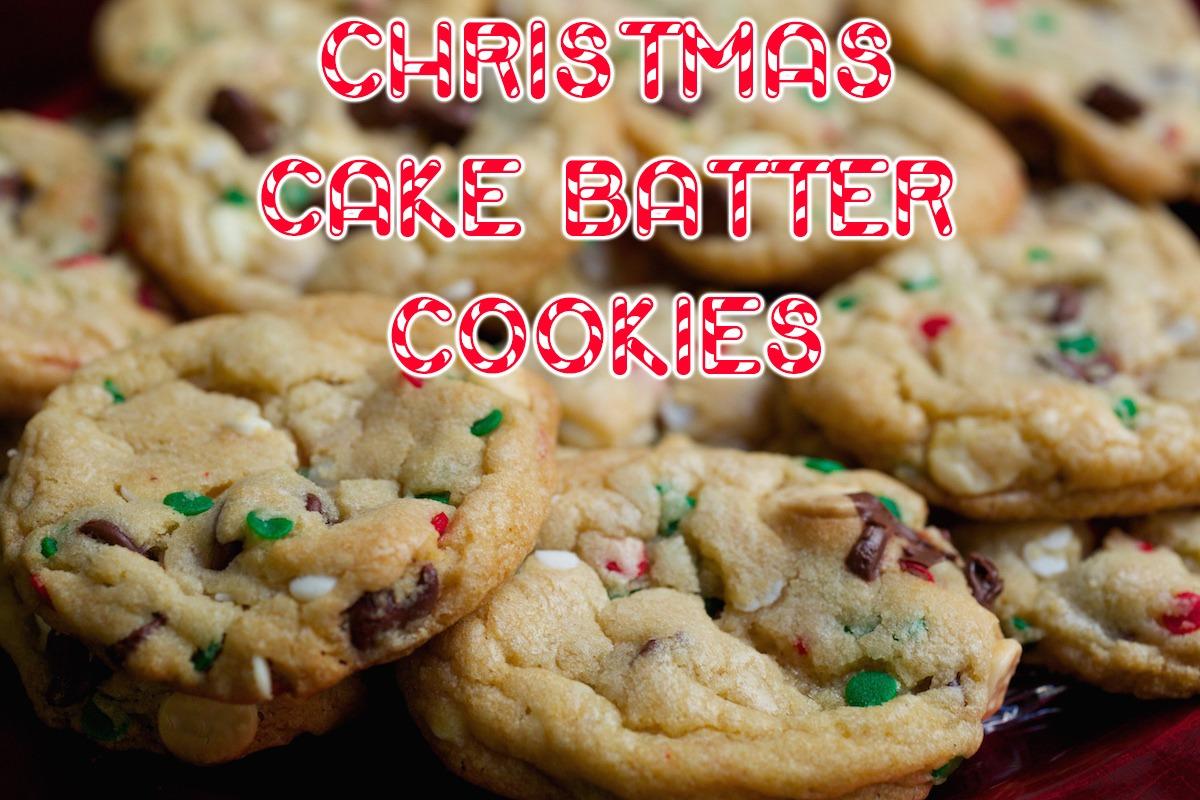 Christmas Cake Batter Cookies Recipe