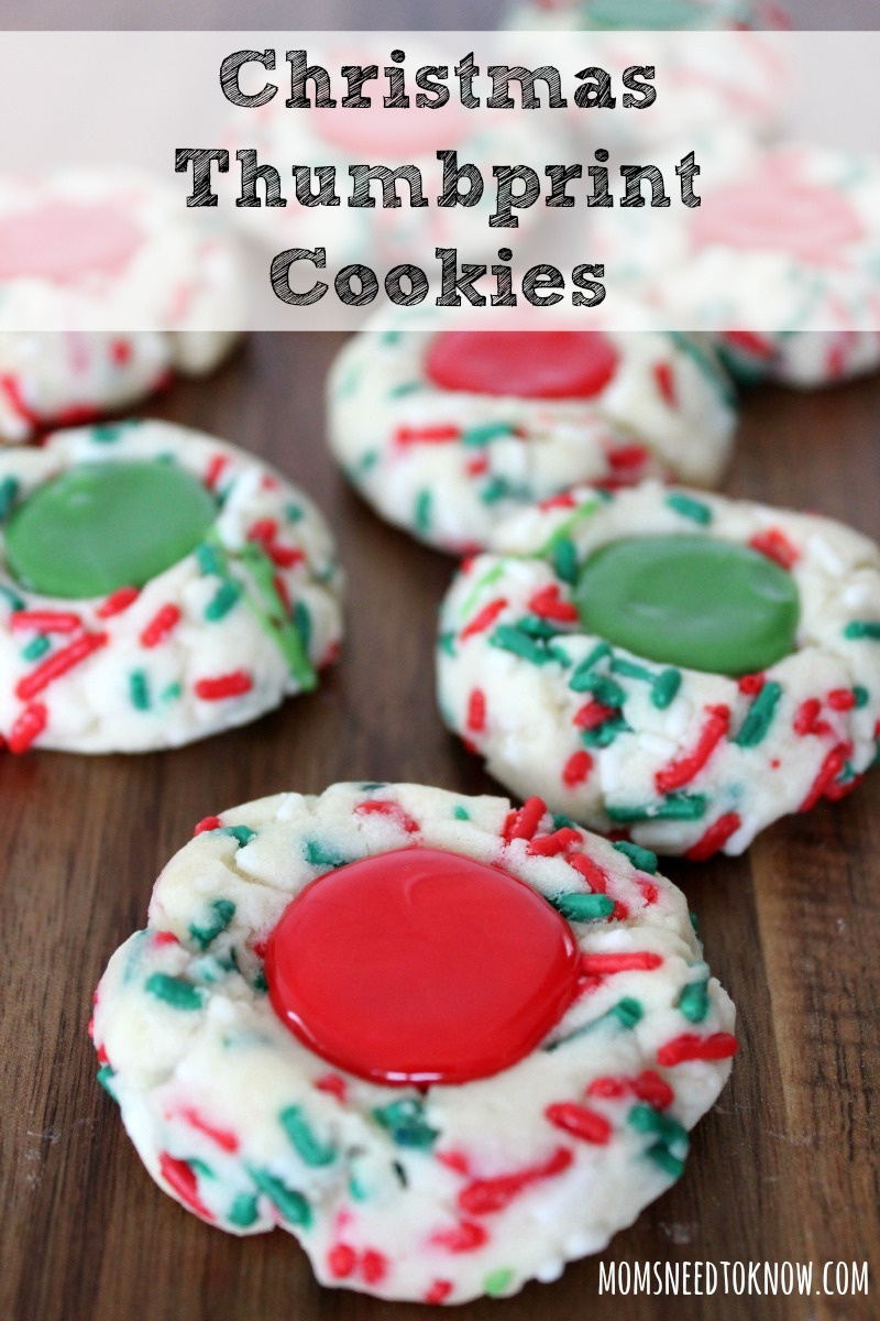Easy Christmas Thumbprint Cookies