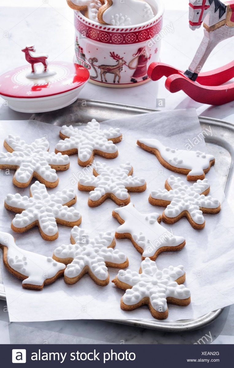 Classic Christmas Cookies On Sheet Pan Stock Photo  284207128