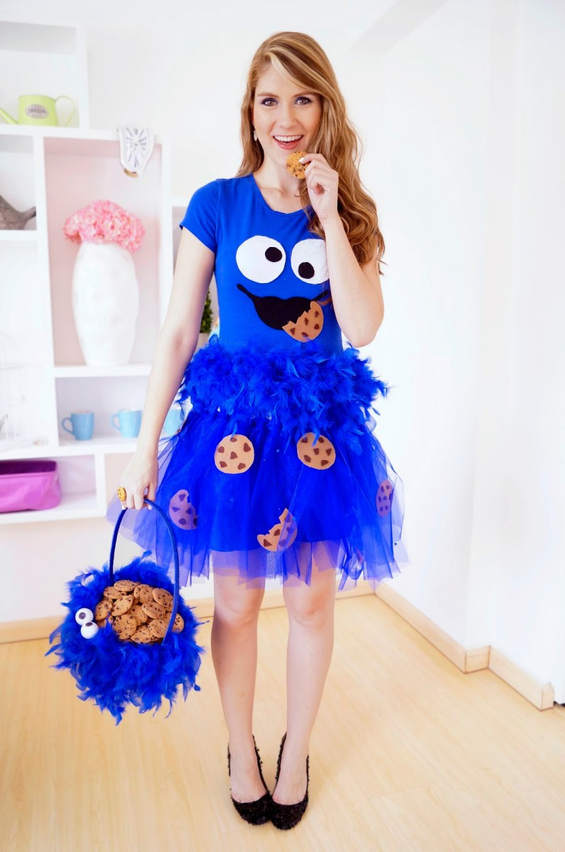 The Joy Of Fashion  {halloween}  Cute Homemade Cookie Monster Costume