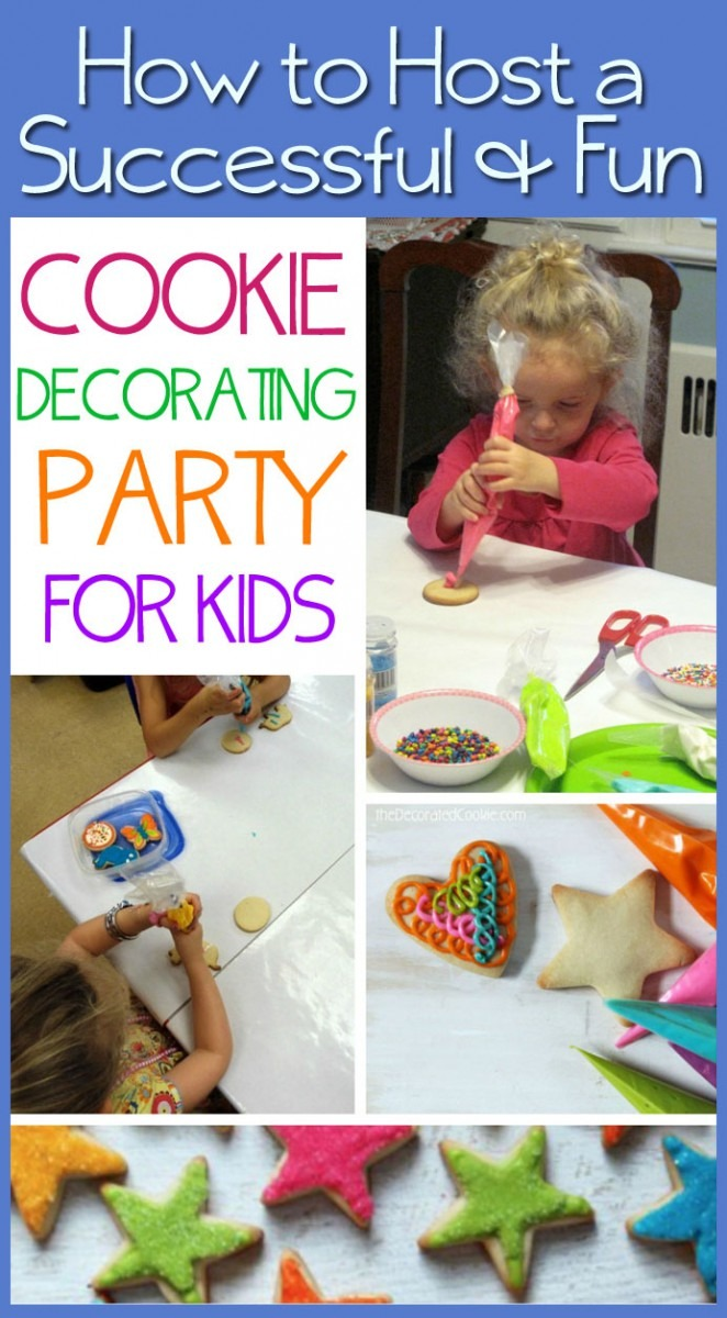 How To  Cookie Decorating Party For Kids