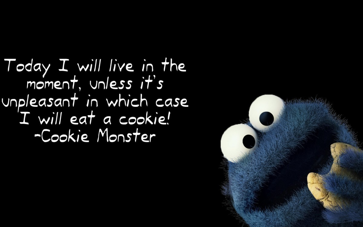 Cookie Monster Quote Wallpaper  17803