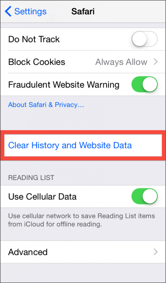 How Do I Clear My Device's Cookies  (ios) – How Can We Help You