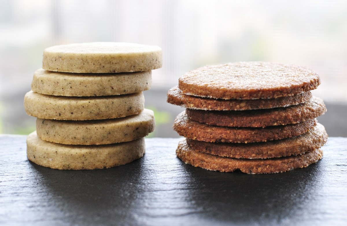 Chai Spiced Shortbread + Chickpea Buckwheat Sable – No Thyme To Waste