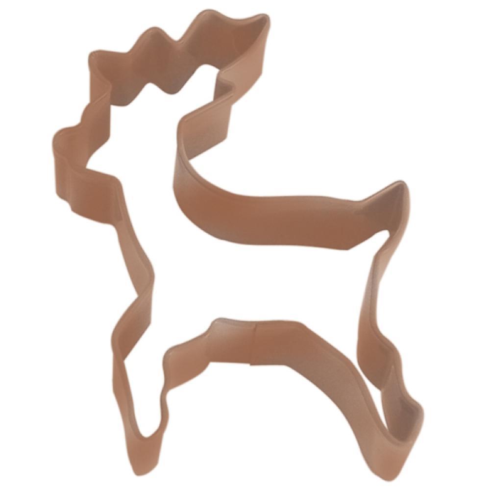 Cybrtrayd Reindeer Standing 4 In  Brown Polyresin Finsh Cookie