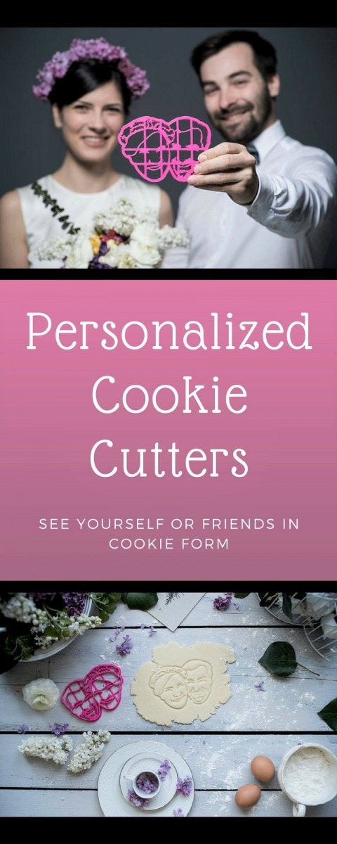 Couple Personalized Cookie Cutter   Custom Fondant Cutter   Couple