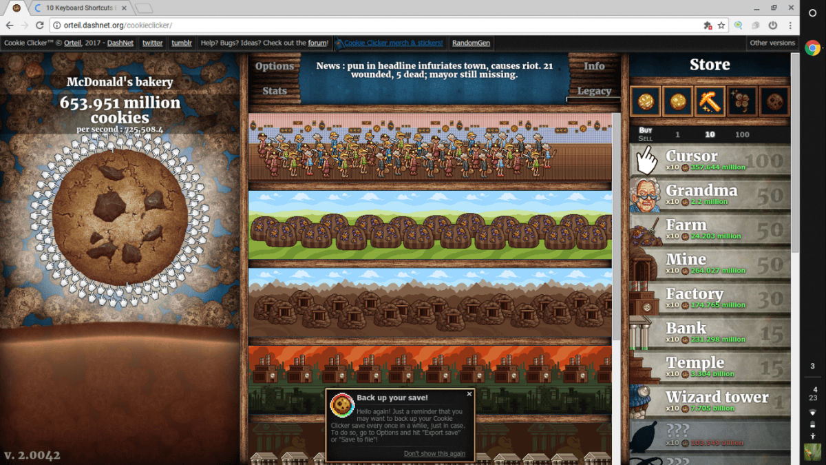 Chat About Cookie Clicker — Dashnet Forums